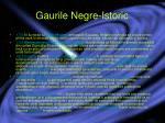 gaurile negre istoric