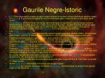 gaurile negre istoric1