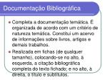 documenta o bibliogr fica