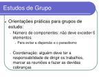 estudos de grupo