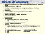 directii de cercetare