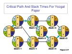 critical path and slack times for yozgat paper