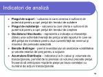 indicatori de analiz