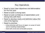 key imperatives