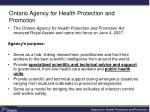 ontario agency for health protection and promotion