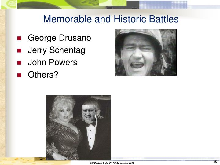 Memorable and Historic Battles