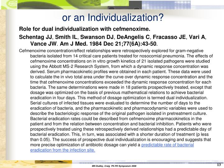 or an Individualization?