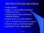 repair station records