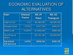 economic evaluation of alternatives
