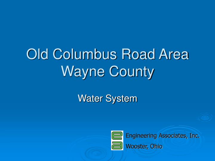 old columbus road area wayne county n.