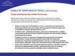 goals of open health tools technology