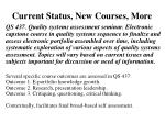 current status new courses more1