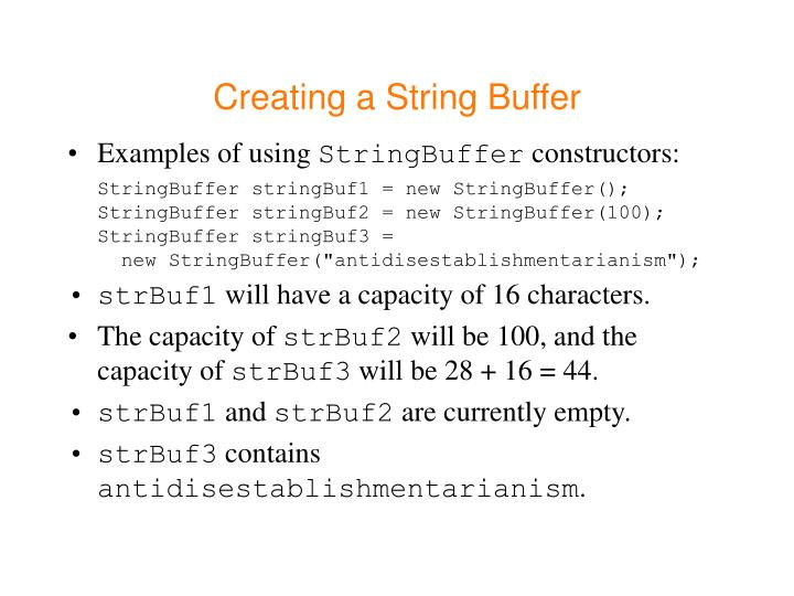 Creating a String Buffer