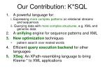 our contribution k sql