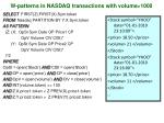 w patterns in nasdaq transactions with volume 1000