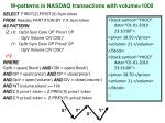 w patterns in nasdaq transactions with volume 10002