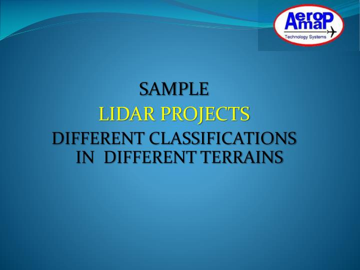 sample lidar projects different classifications in different terrains n.