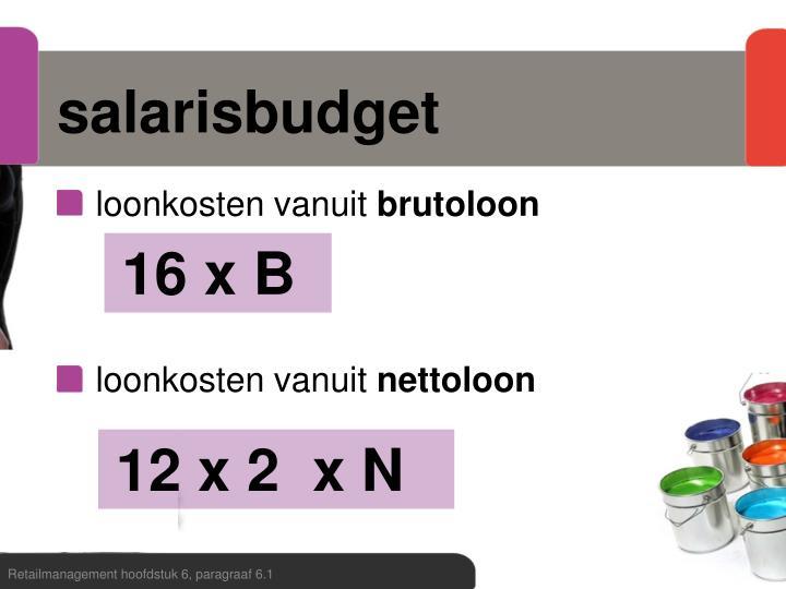 salarisbudget