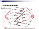 a feasible flow1
