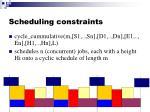 scheduling constraints2