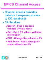 epics channel access