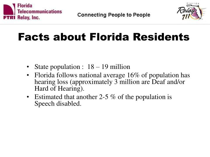 Facts about Florida Residents