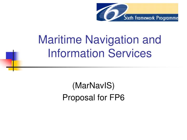 maritime navigation and information services n.