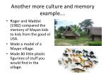 another more culture and memory example