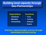 building local capacity through geo partnerships