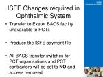isfe changes required in ophthalmic system1