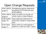 open change requests