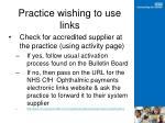 practice wishing to use links