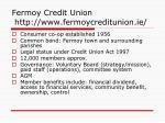 fermoy credit union http www fermoycreditunion ie