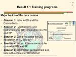 result 1 1 training programs1