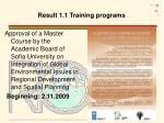 result 1 1 training programs2
