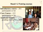 result 1 2 training courses