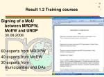 result 1 2 training courses1