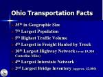 ohio transportation facts