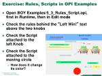 exercise rules scripts in opi examples