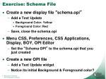 exercise schema file