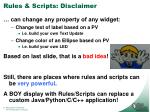 rules scripts disclaimer