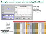 scripts can replace custom applications