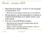 proof assume l 2 p