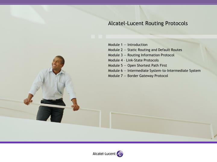 alcatel lucent routing protocols n.