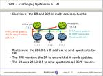 ospf exchanging updates in a lan