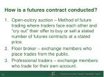 how is a futures contract conducted