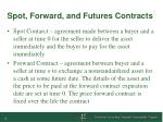 spot forward and futures contracts