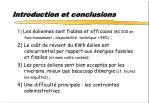 introduction et conclusions