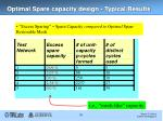 optimal spare capacity design typical results