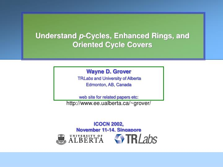 understand p cycles enhanced rings and oriented cycle covers n.